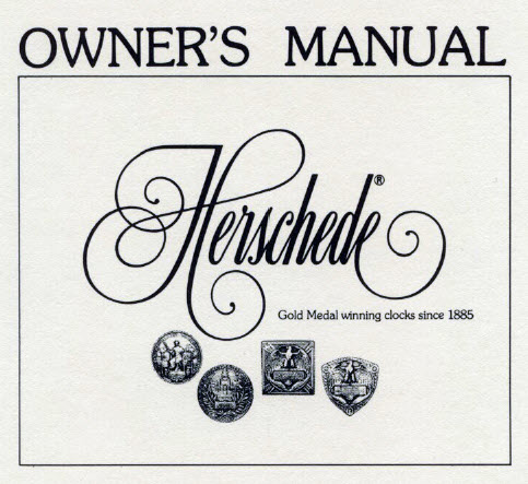 Herschede Owners Manual