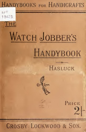 Watch Jobbers Handybook